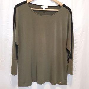 Calvin Klein Tops - Calvin Klein casual blouse color olivo size L